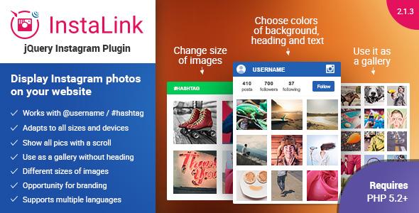 Instagram Plugin v2.1.3 – jQuery Widget for Instagram PHP Script Download
