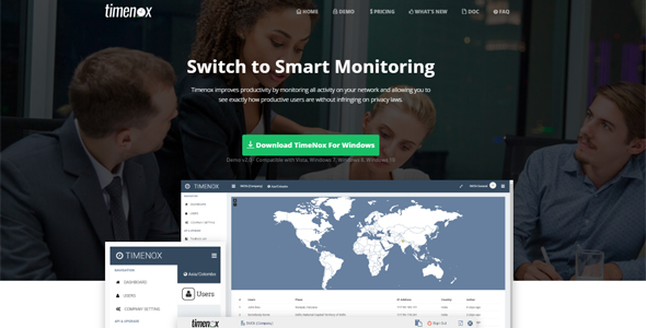Desktop Monitoring Software With Screenshots Plus Cloud Admin PHP Script Download