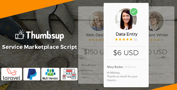 Thumbsup – The Service Marketplace Legend PHP Script Download