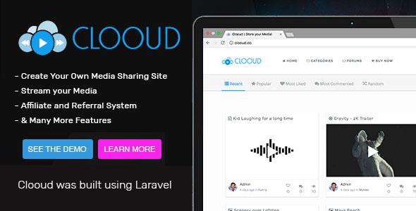 Clooud v1.4.0 – Premium Media Sharing Script PHP Script Download