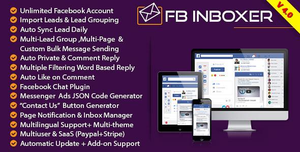 FB Inboxer v4.0 – Master Facebook Messenger Marketing Software PHP Script Download