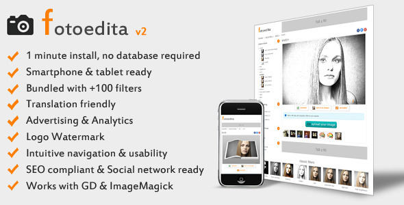 Fotoedita – Complete Photo Editing Website PHP Script Download
