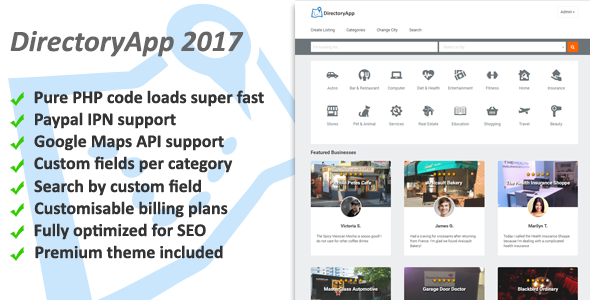 Directoryapp v1.08f – Business Directory PHP Script Download