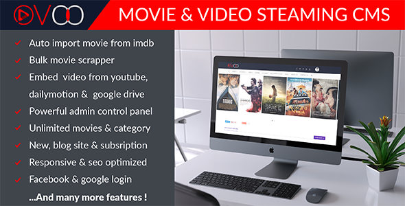 OVOO-Movie & Video Steaming CMS PHP Script Download