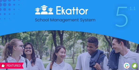 Ekattor School Management System Pro v5.1.1 PHP Script Download