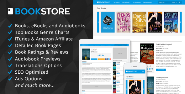 BookStore – Books, eBooks and Audiobooks Affiliate Script PHP Script Download