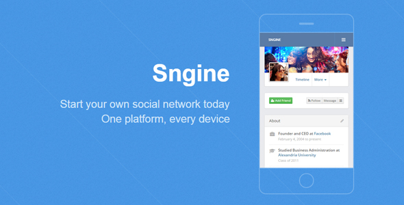 Sngine v2.5.1 – The Ultimate PHP Social Network Platforms PHP Script Download
