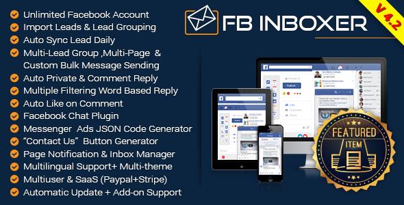 FB Inboxer v4.2 – Master Facebook Messenger Marketing Software PHP Script Download