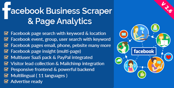 Facebook Business Scraper & Page Analytics v2.6 PHP Script Download