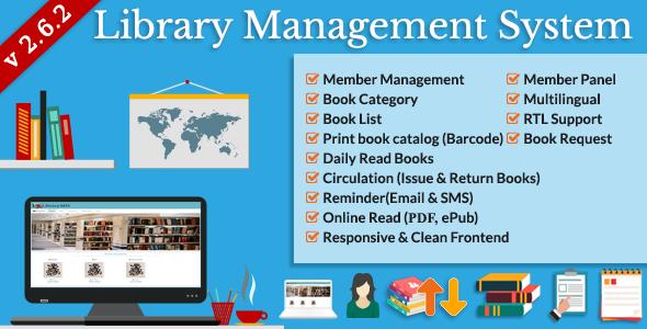 Library Management System (LMS) v2.6.2 PHP Script Download