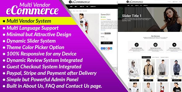 E-Commerce PRO – Multi Vendor Ecommerce Business Management System PHP Script Download